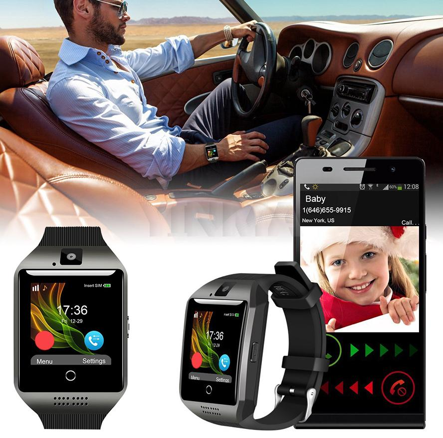 Q18 NFC Bluetooth Smartwatch Support SIM TF Card With 1.3MP Camera For iOS iPhone Samsung Phone V8 T8 Smart Watch