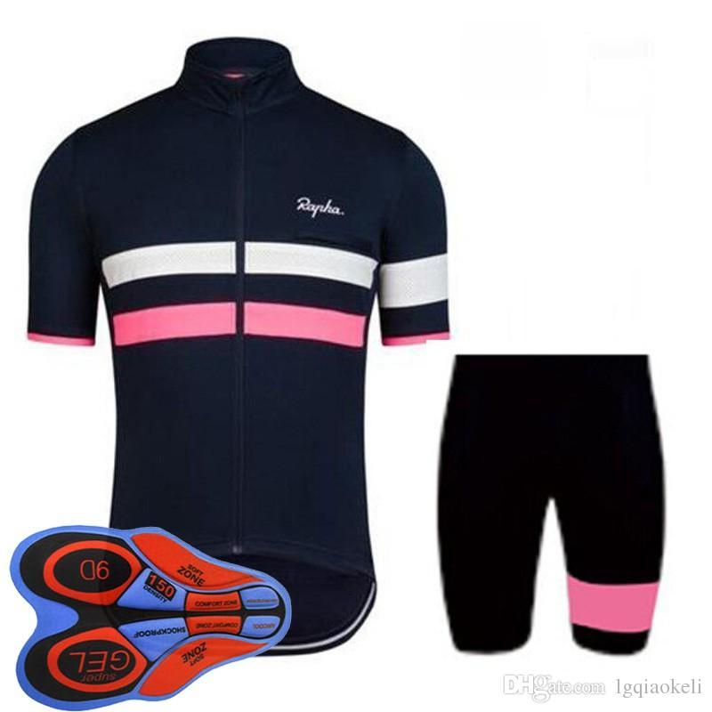 2018 Rapha новый летний горный велосипед с короткими рукавами велоспорт Джерси комплект быстросохнущие мужчины и езда рубашки нагрудник шорты набор 9D гель pad D1795