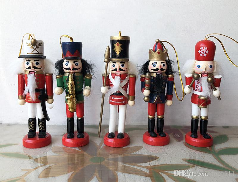 Christmas Ornament Hanging Nutcrackers Wooden Toy Gift Xmas Tree Home Decor  Christmas Hanging Ornament Wood Nutcrackers Christmas Gift Decor Online  with ... - Christmas Ornament Hanging Nutcrackers Wooden Toy Gift Xmas Tree