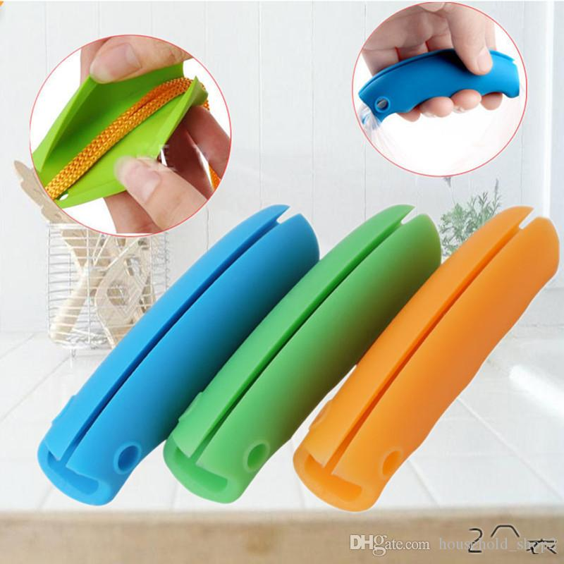 2018 shopping Bag Carrying Handle Tools bag clips multi color Silicone Carry package Clips Handle bags clip