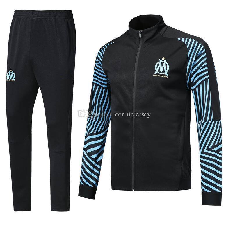 Tracksuit Olympique De Marseille Survetement Soccer Jacket Training ... 743341c666f8b