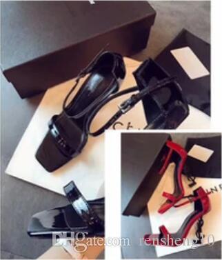ef7df8566c8265 New Arrivals 2018 Patent Leather Thrill Heels Women Unique Designer ...