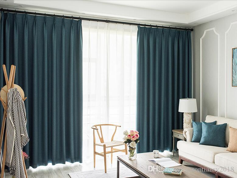 2019 Window Bedroom Curtains Pleated Solid North Europe