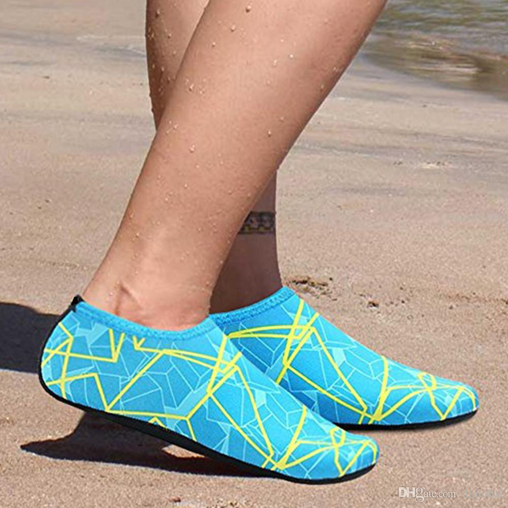 Colorful Summer Women Water Shoes Aqua Slippers for Beach Slip On ... 4cb8f0e54646