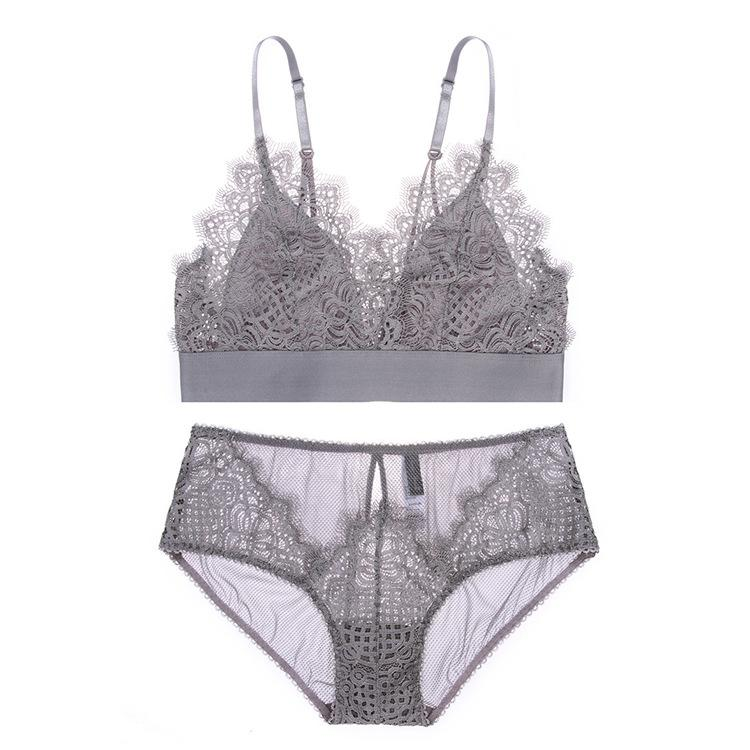 d3fe2ac18a2d2 Women Sexy Bra Set Ladies Lace Seamless Bralette Bustier Women Underwear  Lingerie Set Triangle Cup Bra And Panty Set Online with  59.21 Piece on ...