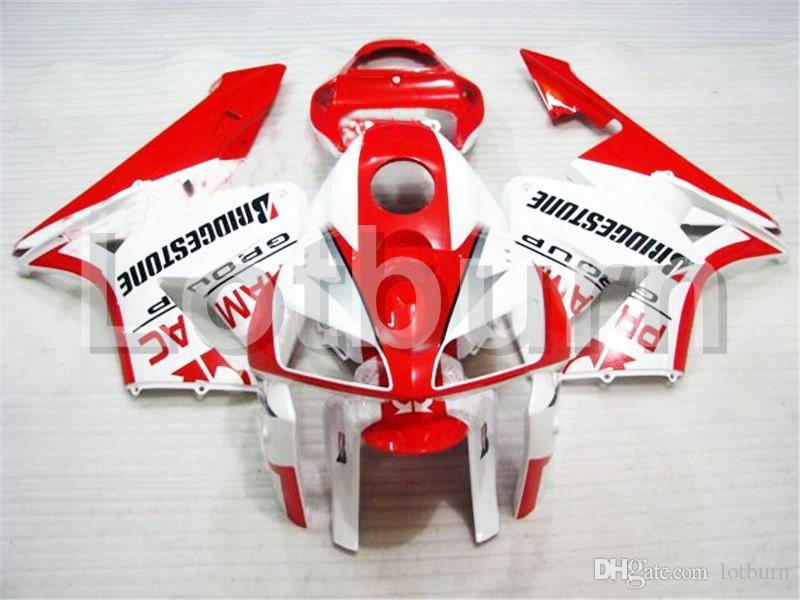 White Red Moto Fairing Kit Fit For Honda CBR600RR CBR600 CBR 600 2005 2006 05 06 F5 Fairings Custom Made Motorcycle Bodywork A211