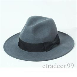 Classic Men Wide Brim 7cm Brown Wool Fedora Hats For Spring Fall Winter  Women Grey Woolen Felt Fedoras Caps Wholesale Nice Mens Red Hat Canada 2019  From ... 6afe8bbbf60