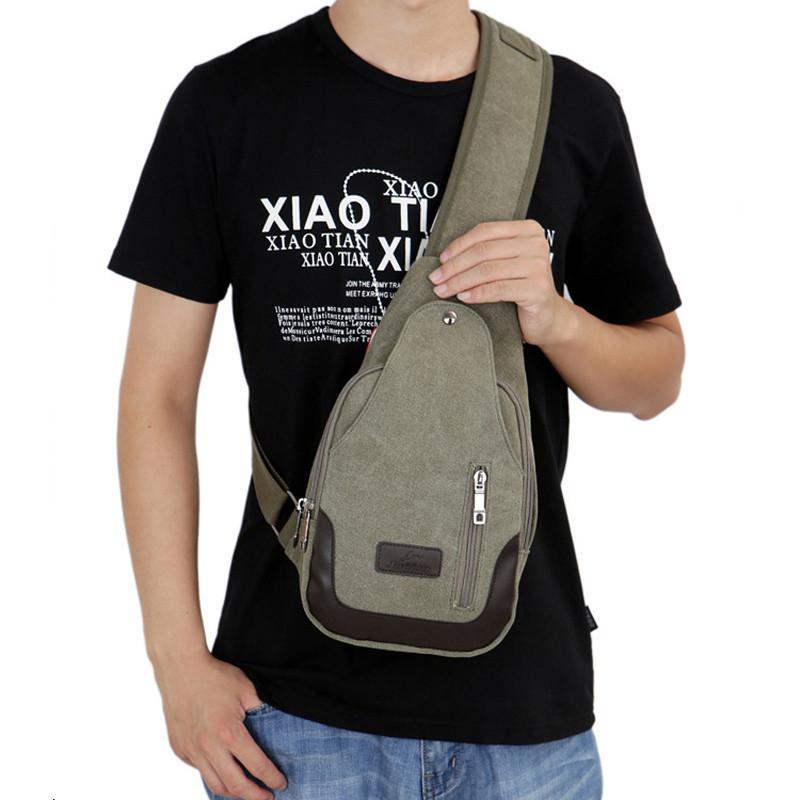 Men Canvas Sling Bag Fashion Chest Bag Shoulder Men Zipper Designer Handbags  High Quality Bolsa Mensageiro Masculina Leather Purse Womens Purses From ... 5839c190a3a5b