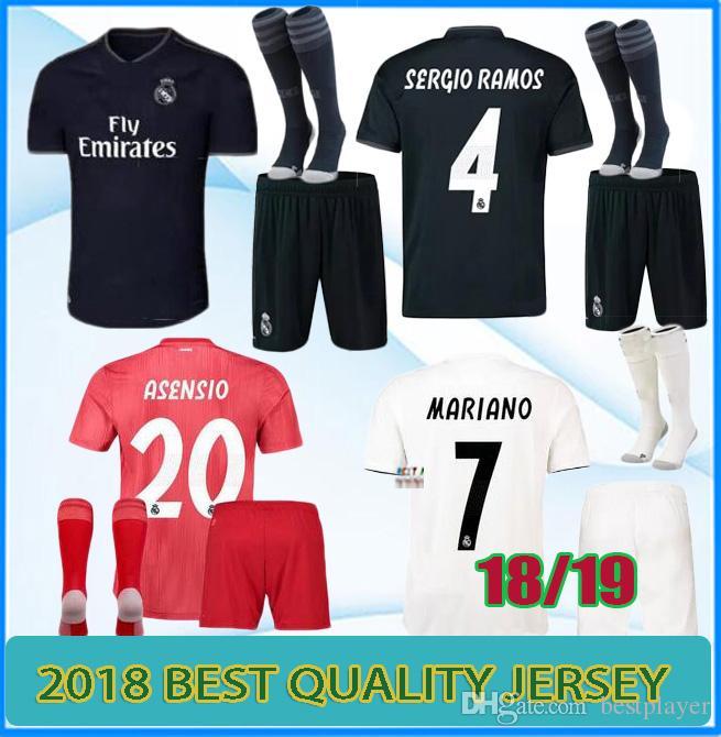 13dd52a15c8 Real Madrid Soccer Jerseys Jersey Kits 2018 2019 Mariano ISCO Modric ...