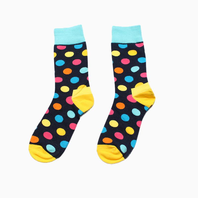 a56cc5a3a0b 2019 Funny Socks Men Cotton Autumn Circle Point Happy Socks Best Sellers  Meias Homens Meia From Jin395422022
