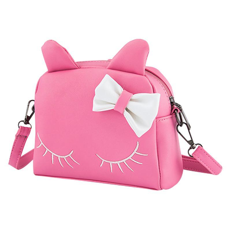 d30239fd6da 2018 Kids Girls Messenger Bags PU Leather Mini Bag Cute Cartoon Cat Ears Shoulder  Bag Children Crossbody Bags For Baby Girls Leather Backpack Purse Sports ...