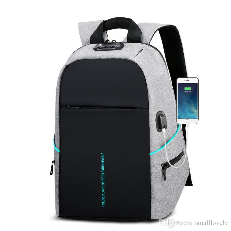 f56788857398 2018 New Backpack Computer Bag Multi-function Anti-theft Student Bag ...
