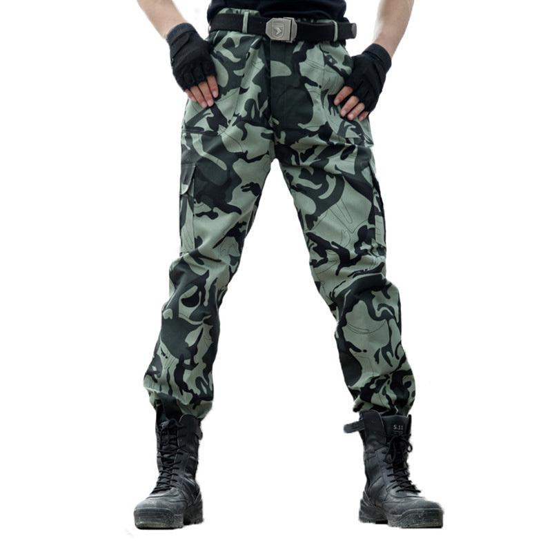 2421856012 SOWU Camo Cargo Trousers Casual Military Army Combat Camouflage Pants Women  Cargo Pant Needlework