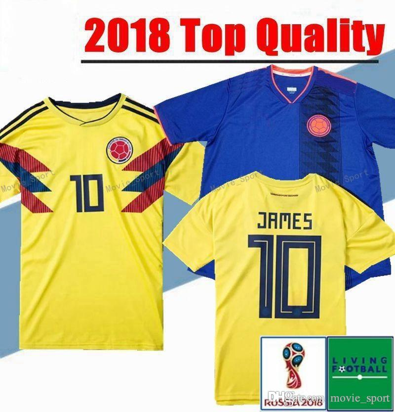 05feb0c7971 Colombia 2018 World Cup Soccer Jersey Colombia Home Yellow Soccer ...