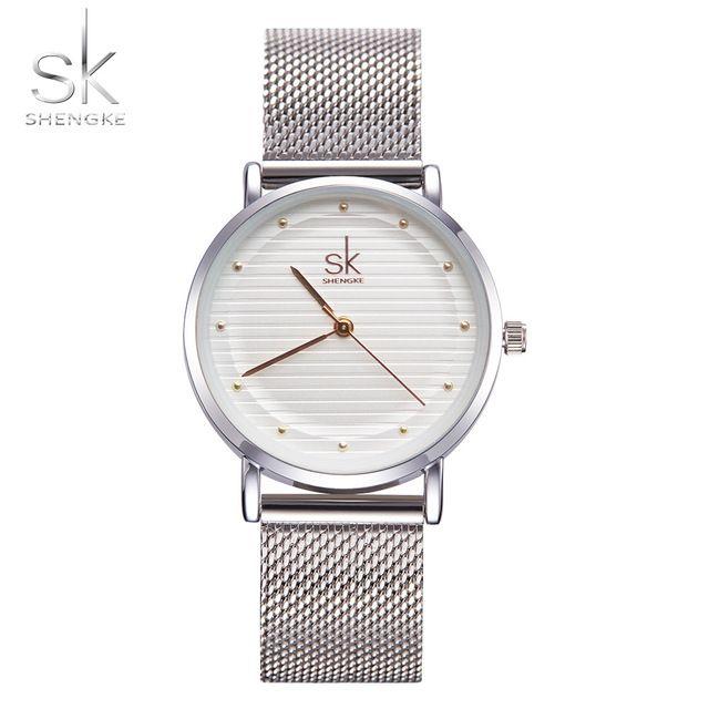 e49497aea Shengke Brand Fashion Wristwatches Women Stainless Steel Band Women Dress Watches  Female Quartz Watch New SK Waterproof Clock Chronograph Watches Cheap ...