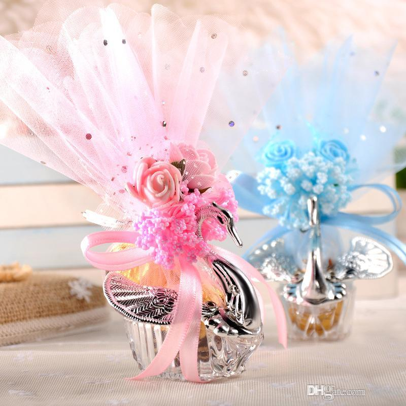 Swan Candy Box High End Wedding Favor Plastic Gift Wrap Bags