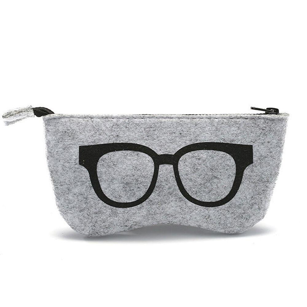 Fashion New Hot Felt Sunglasses Bags Cases Portable Soft Glasses Package Glasses Accessories 5 Colors Excellent In Quality