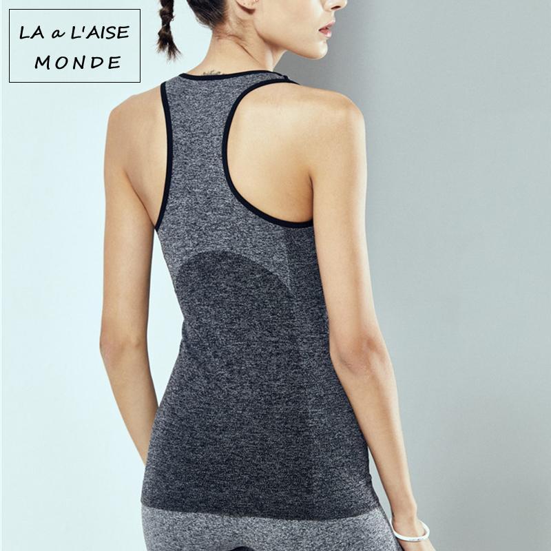 b4a5a434ac1c8 Gym Tank Yoga Top Sports Wear Jerseys Women's Activewear Sporty Woman Sport  Fitness T Shirt For Women's Workout Sportswear