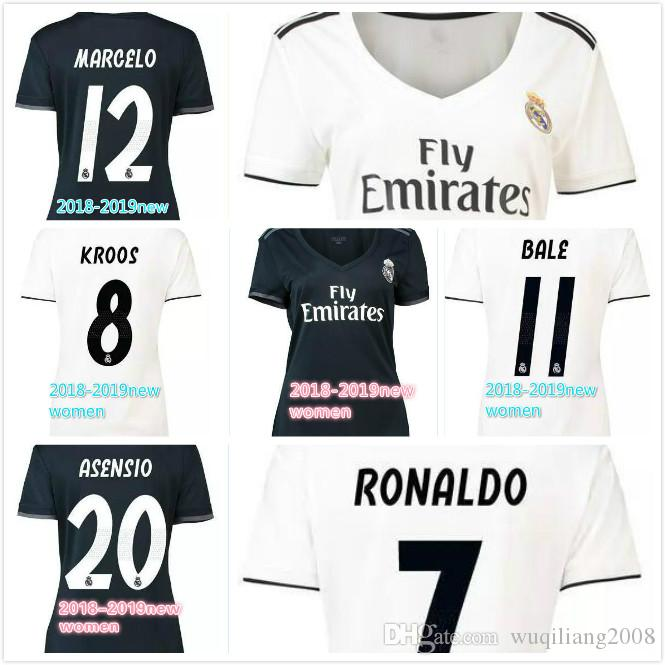 FREE Ship 2018 2019 New Real Madrid Women Soccer Jerseys ASENSIO ... 25d57a4f0