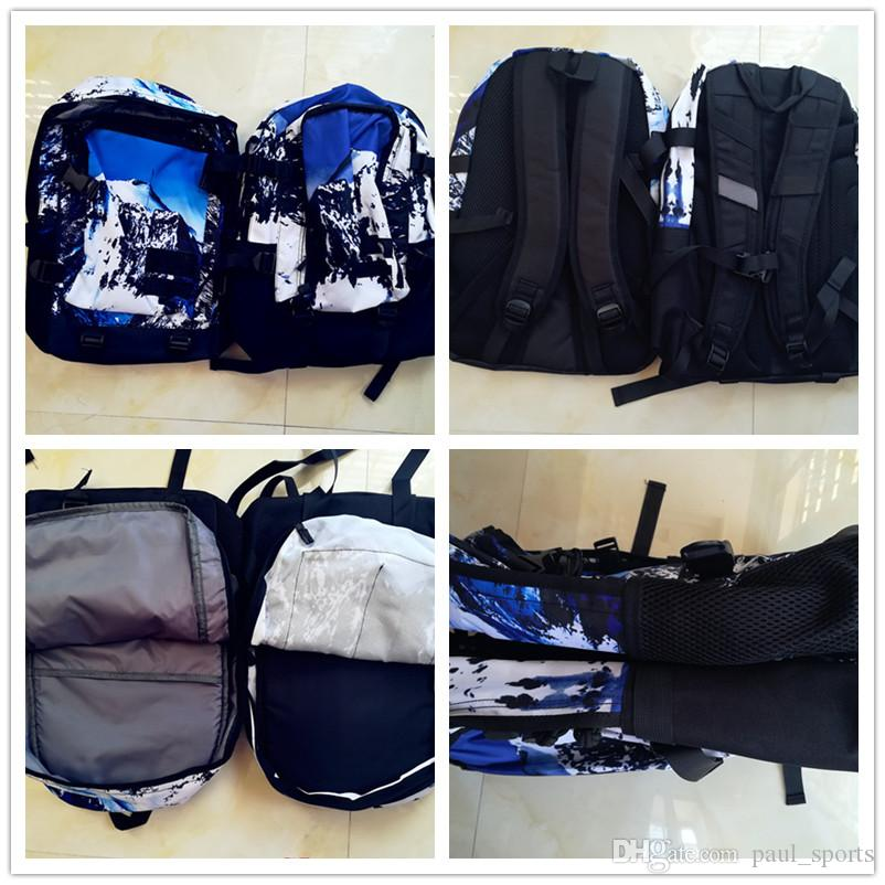 The North X Sup World Map Sports Designer Backpack Alps Snow