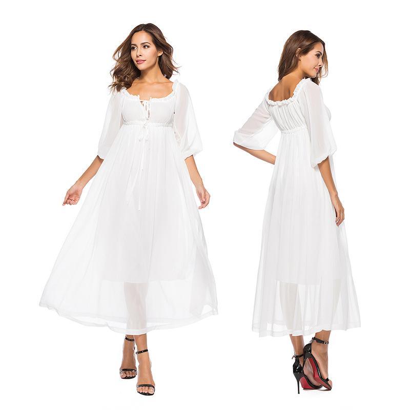 2f1fb45e047 Мать невесты платья вечерние сексуальные платья белое шифоновое богемное  платье-это одно слово шоу тонкого
