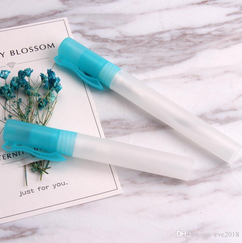 10 ml Seyahat Plastik Kalem Parfüm Sprey Şişeleri Boş Mini Doldurulabilir Konteynerler Atomizer LX1164