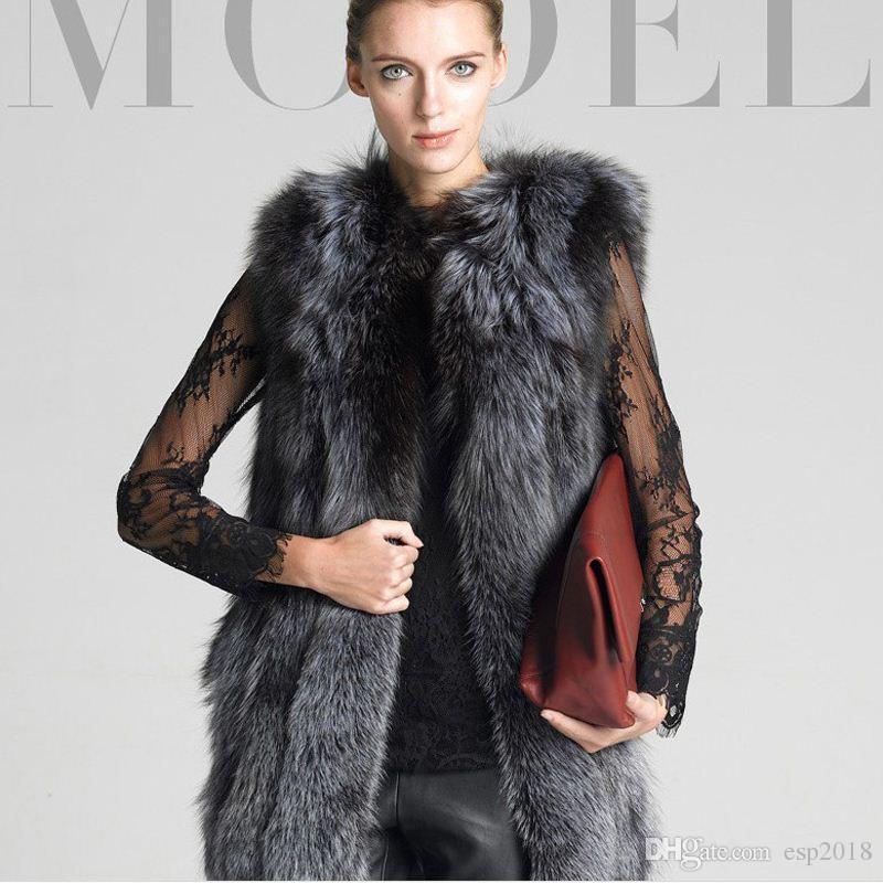 Acheter Argent 2015 Slim Veste Hiver Nouveau Femmes Renard Automne raFr0