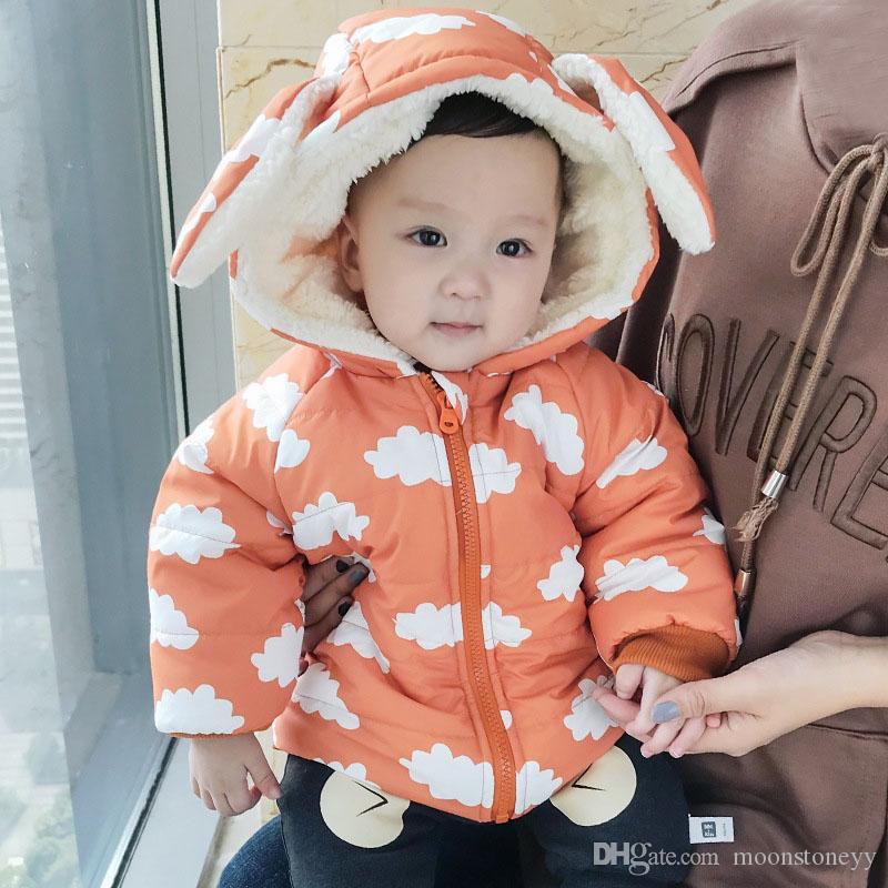 dd86aa84828b Baby Toddler Kids Infant Newborn Coat Warm Thicken Parka Clouds Ears Hooded  Fur Inside Winter Outerwear Jacket 0 3 6 9 12 Month Winter Coats For Boys  On ...