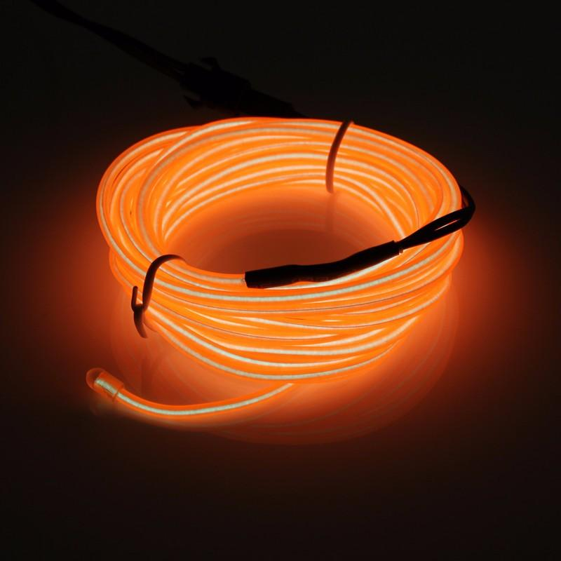Flexible 10 Colors Led Strip Light For 300CM EL Wire Rope Tube Neon Cold Light Glow Party Auto Car Decoration With 12V Inverter