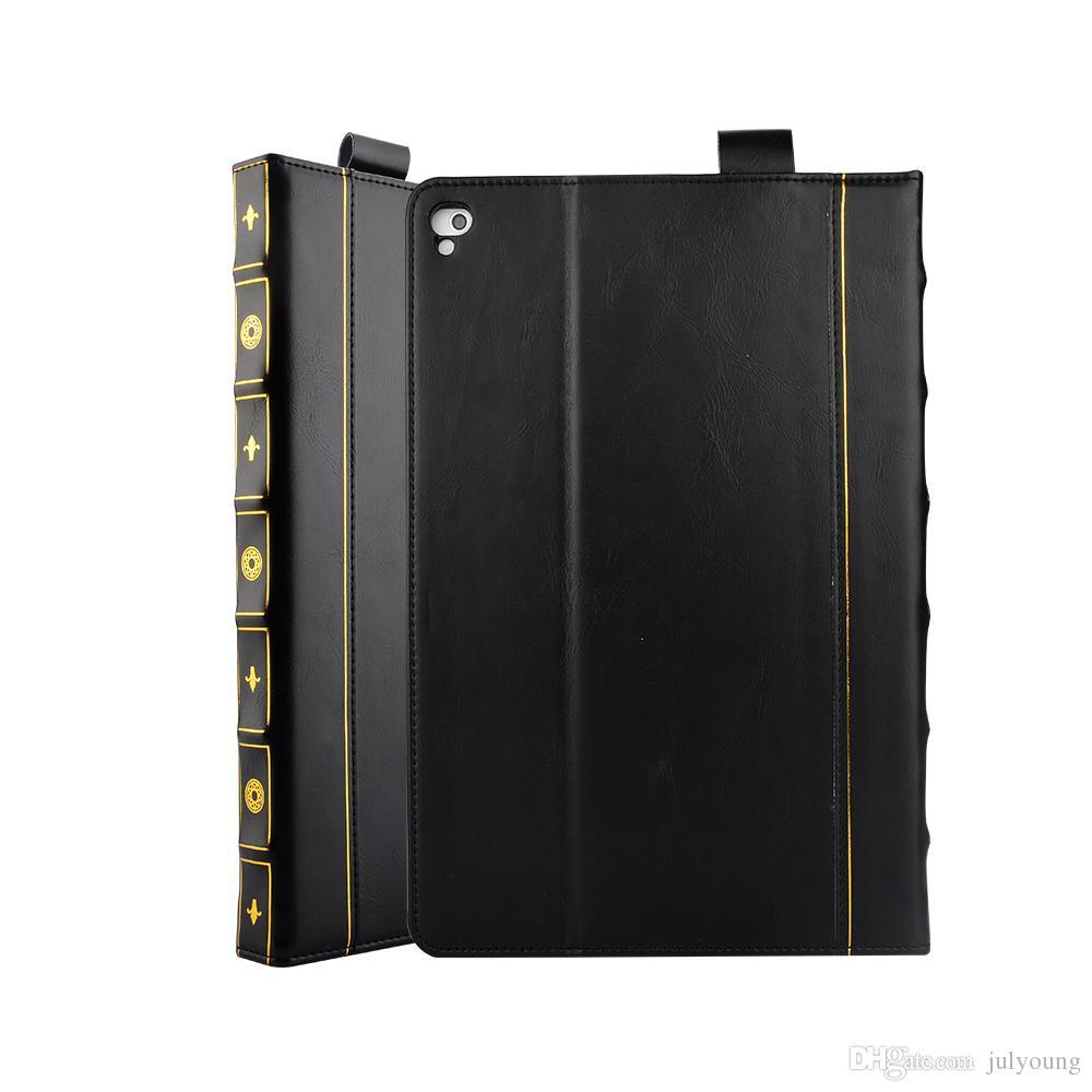 Vintage Style de livre en cuir Étui Portefeuille Pour Apple Ipad Air Ipad 5 6 Air 2 Pro 9.7 pouces 2017 2018 Rétro Ancien Vieux Flip Kickstand Pochettes
