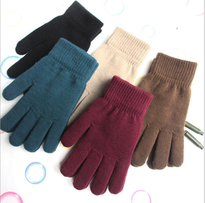 women winter knit gloves winter warm wool gloves mittens outdoor Cycling skiing Glove knited magic thicken glove