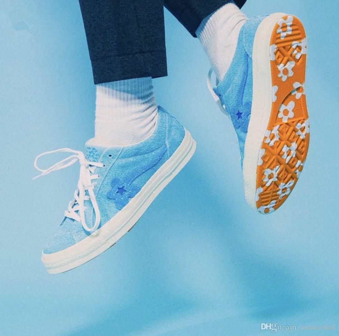 2018 Tyler O Criador x Con Uma Estrela x Golf Le Fleur TTC Amarelo Sapatilha Sapatilhas Sapatos de Lona Solar