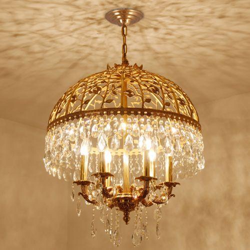 European style led crystal copper chandeliers light k9 crystal european style led crystal copper chandeliers light k9 crystal pendant chandelier penthouse hanging lamp hotel villa project chandelier diy chandelier mason aloadofball Gallery