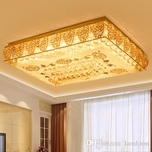 Modern LED Ceiling Chandeliers Luxury Noble Rectangle Cloud Crystal  Chandelier Lights For Hotel Villa Living Room Ceiling Chandeliers Long  Chandelier Simple ...