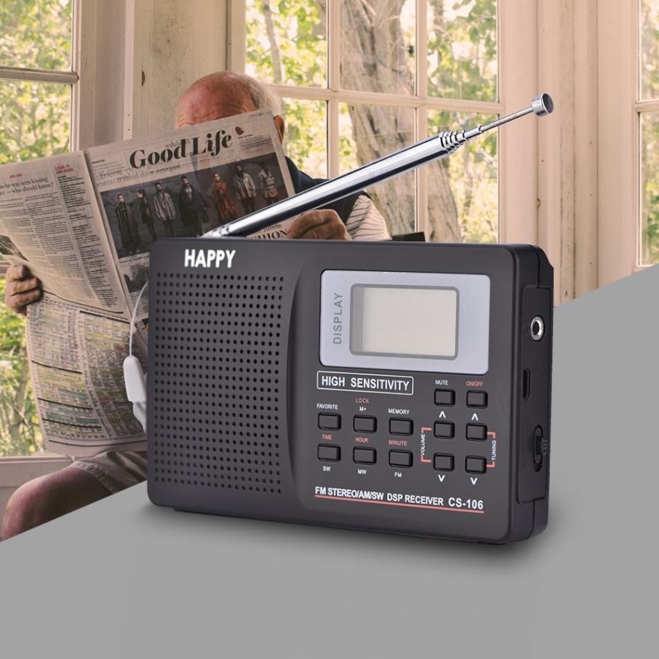 VBESTLIFE Supporto radio portatile FM / AM / SW / LW / TV Sound Band completo Sveglia Radio Mini Radio 2 Tipo Opzionale