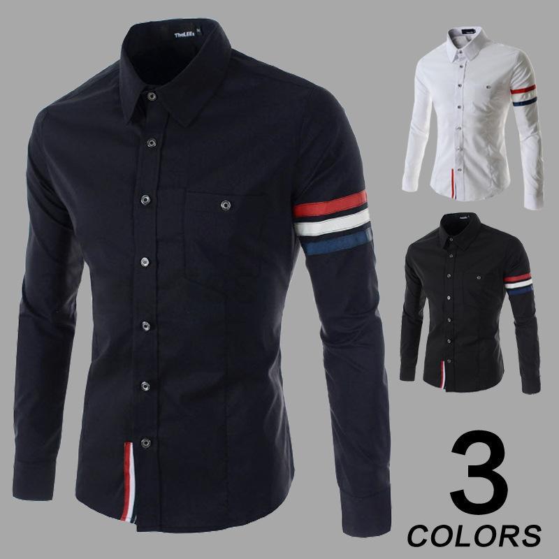 Cs38 Hombres Comercio Feminina Costura Mayorista Camisa Primavera 2019 Larga Moda 30 Camisas De Manga Camiseta Masculina Coreana DbeWEIH29Y