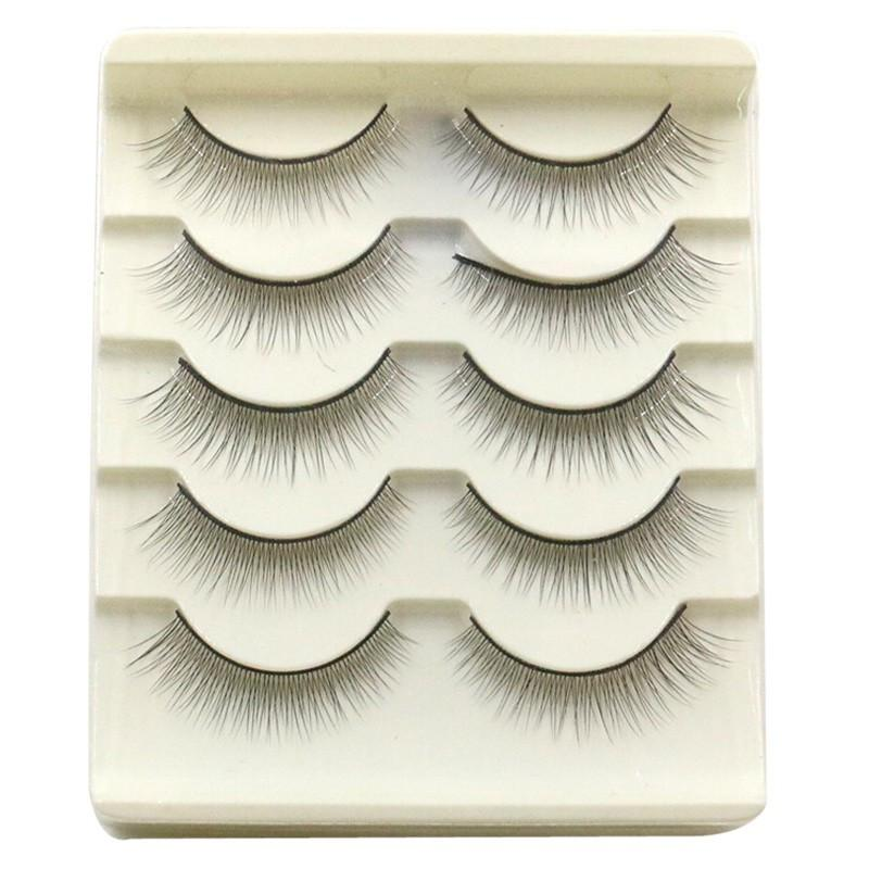 89c4997c7d5 Natural False Eyelashes Handmade Long Thick Black Crisscross Extension Eye  Lashes Artificial Soft Fake Lash Cheap Makeup Best False Eyelashes Car  Eyelashes ...