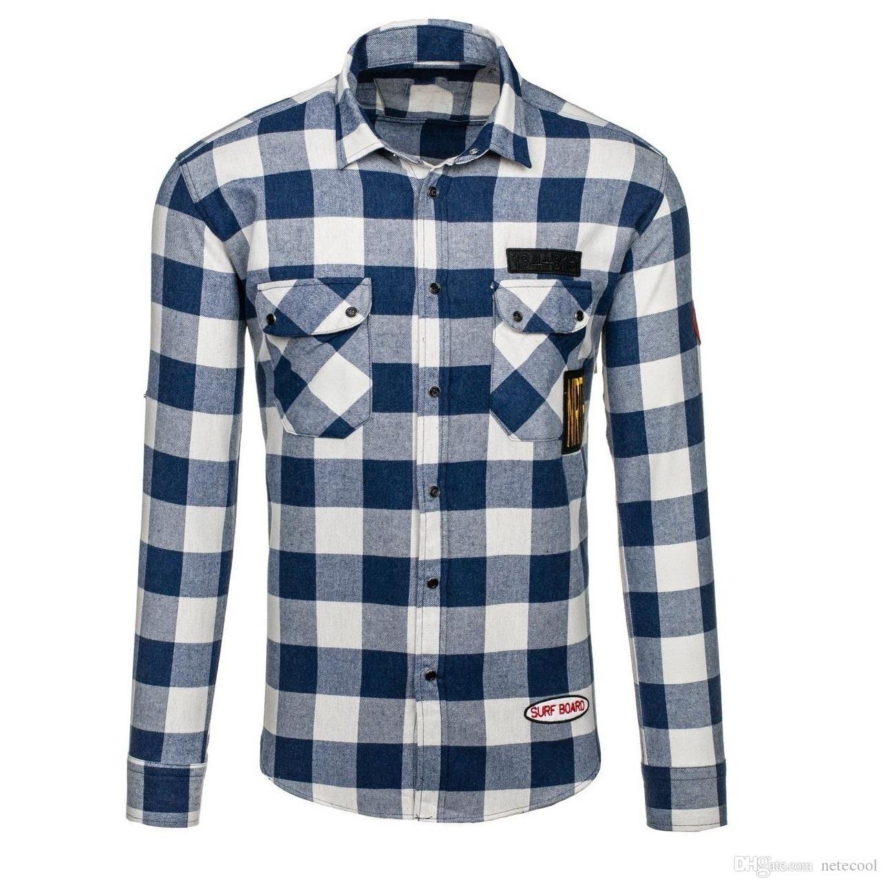 ab39c1838d Compre 2018 Nueva Marca Shirs Hombres Camisa De Algodón A Cuadros Cálida  Moda Masculina De Manga Larga Camisa Casual Hombres Jóvenes Camisas De  Vestir Más ...