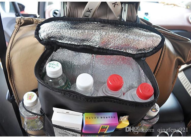 Accesorios de viaje Tipo colgante Bolsa de hielo del vehículo Aislamiento térmico Silla de mantenimiento fresco Bolsa de almacenamiento del automóvil multifuncional Bolsas más frías