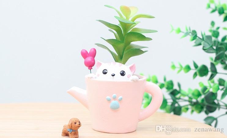 Desktop-Topfpflanzen pflanzliche Pflanzen Pflanzen Dekoration Töpfe Original Desktop Blumentöpfe Original-Design Home essential Verschönern Sie die Familie