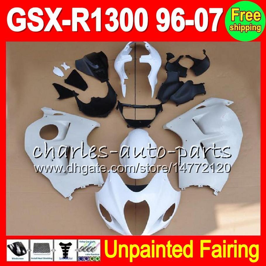 8Gifts Kit complet de carénage non peint pour SUZUKI GSX-R1300 96-07 GSXR1300 GSXR 1300 96 97 98 99 00 01 02 03 04 05 06 07 Carénages Carrosserie Corps