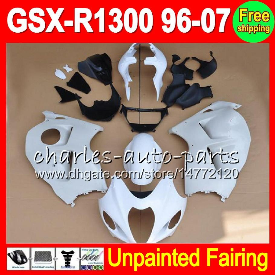 8Gifts Unpainted Full Fairing Kit For SUZUKI GSX-R1300 96-07 GSXR1300 GSXR 1300 96 97 98 99 00 01 02 03 04 05 06 07 Fairings Bodywork Body