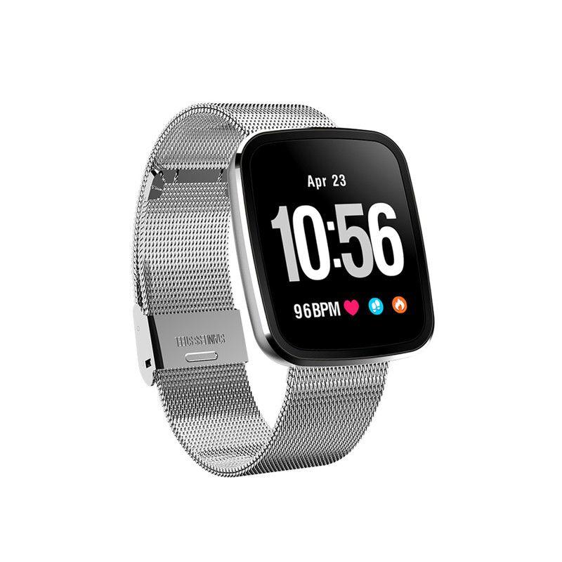 ca6cc301dfc Compre V6 Relógio Inteligente Homens Relógios De Pulso Digital De Fitness  Pulseira À Prova D  Água De Freqüência Cardíaca De Monitoramento Do Sono Da  ...