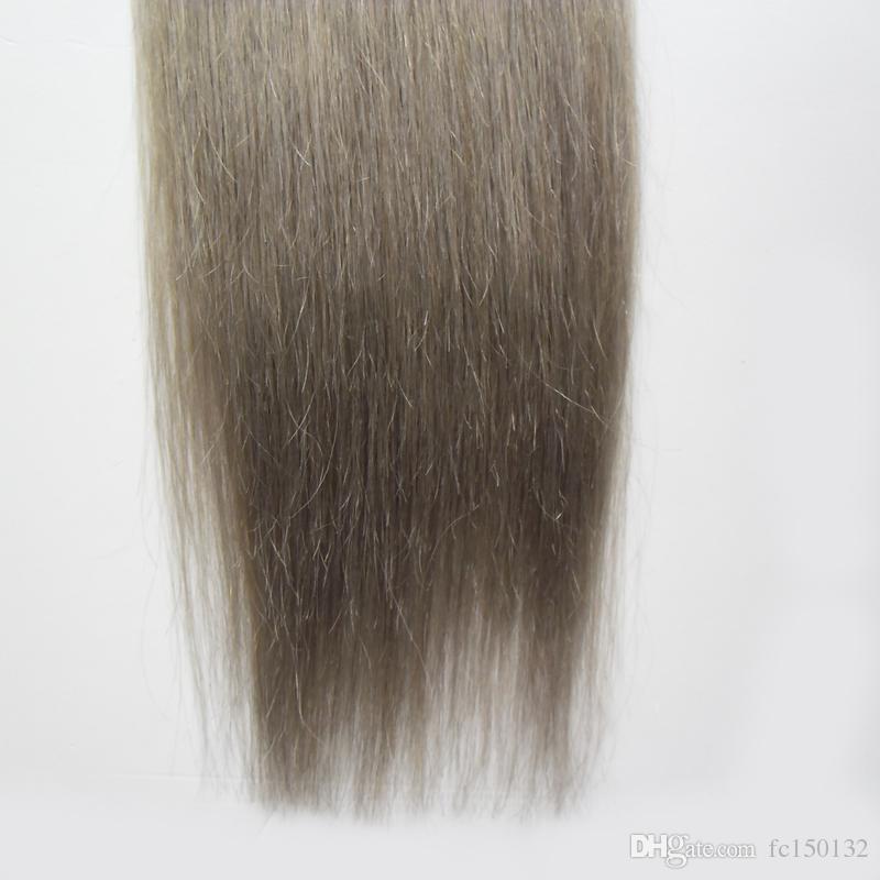 T1B / رمادي أومبير الشريط ملحقات الشعر الرمادي 40 قطعة لكل حزمة 100 غرام الجلد لحمة الشعر