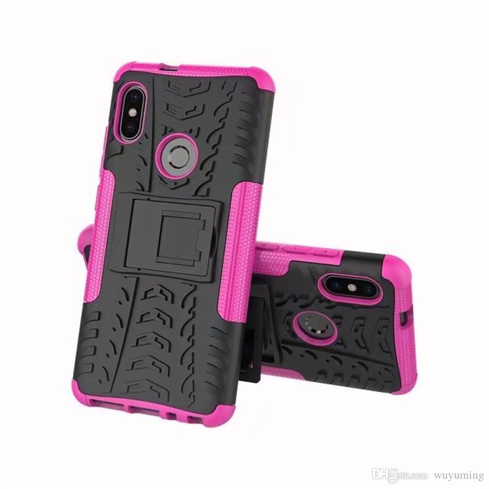 versione indiana redmi Nota 5 dura sottile copertura del telefono gomma di silicone di caso del robot armatura della protezione redmi Nota 5 / Nota 5 Pro