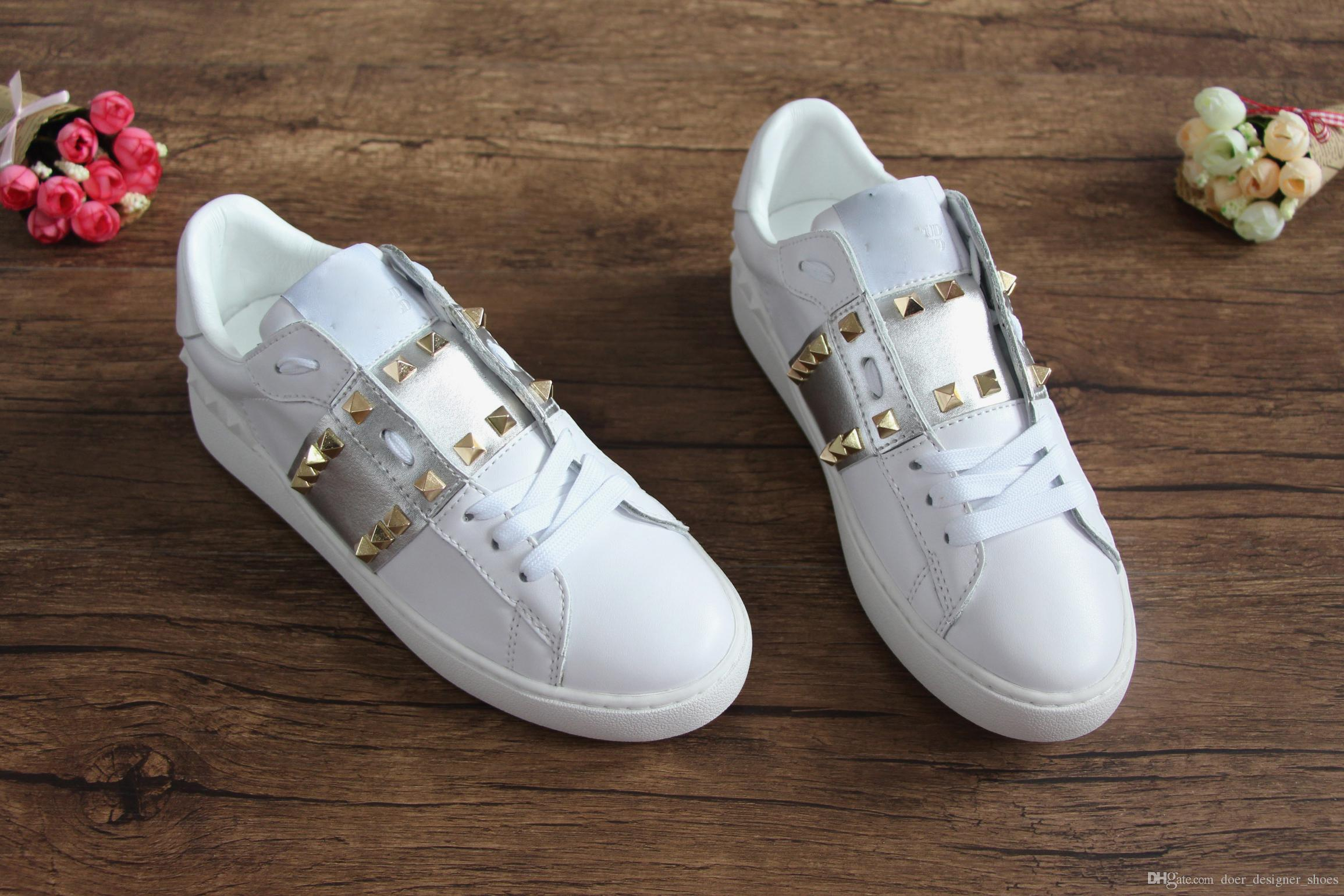435f7e54775 New Luxury Brand Mens Designer Shoes Fashion Trainers with Studs ...
