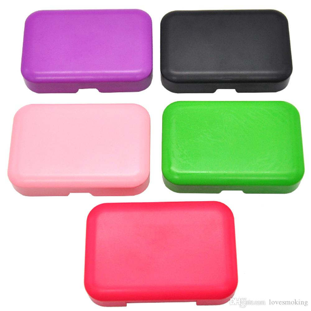 Plastic Cigarette holder  110mm*75mm Cigarette Storage Case with 78MM Papaer Holder Plastic Tobacco Tin Portable Pocket Size