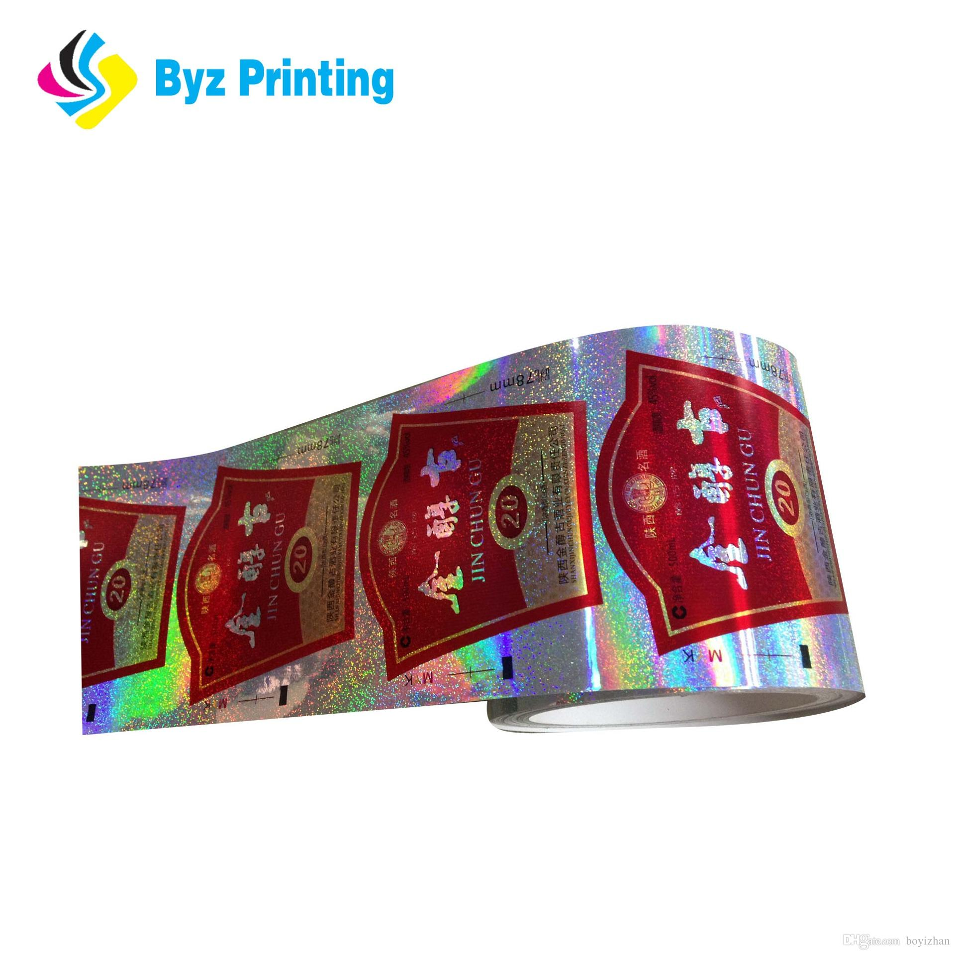 Hot sale packaging adhesive sticker printing custom printed vinyl labels reflective sticker printing packaging label printed custom printed labels online