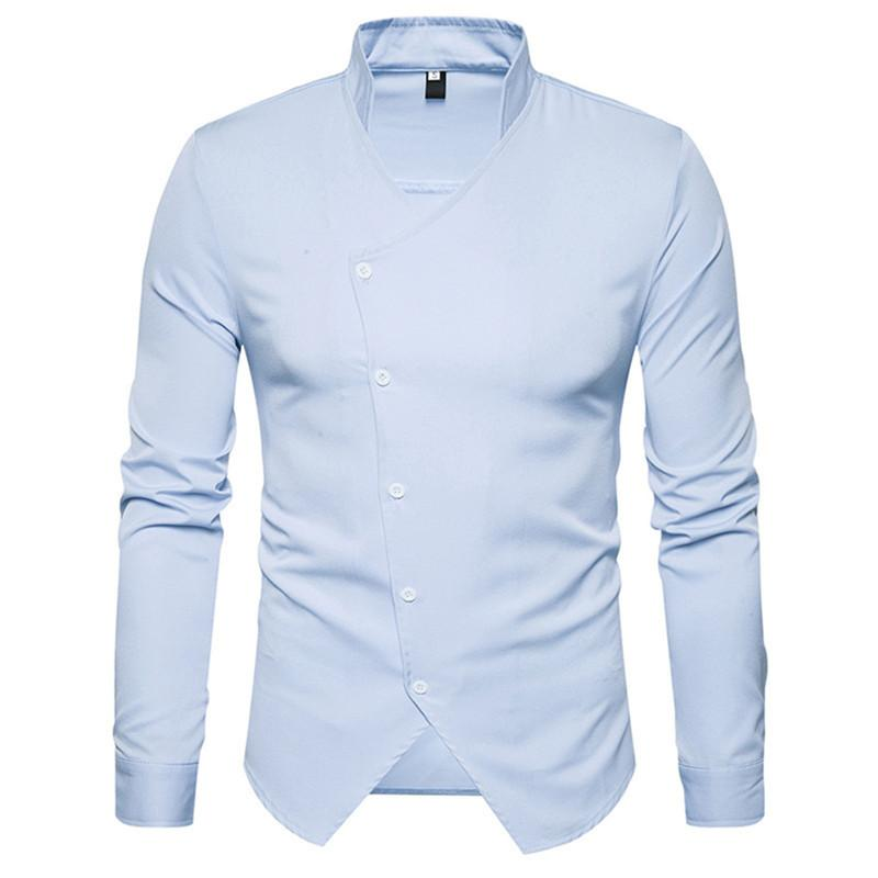 Acheter Chemises De Smoking Pour Hommes Angleterre Style Patte De  Boutonnage Nouveauté Slim Chemise Homme Gentleman Party De Mariage Blusa  Manches Longues ... 2bb4c8e4553