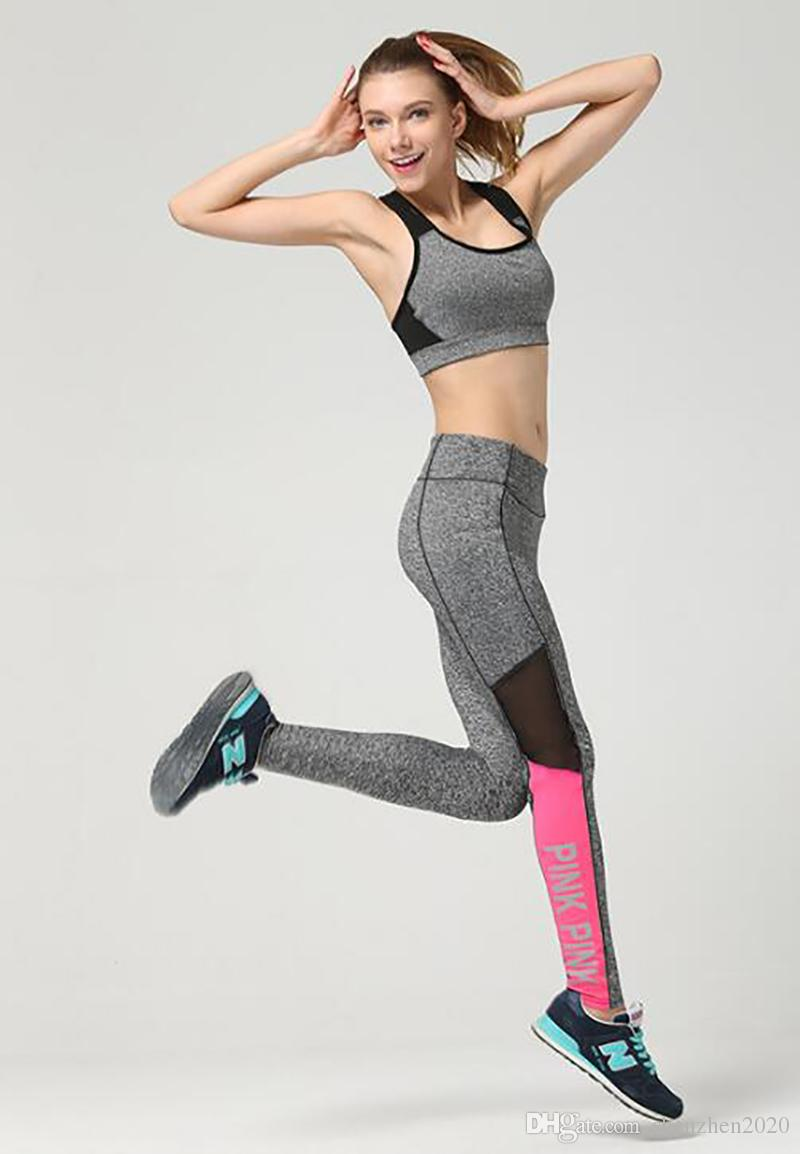 a307825348 LOVE PINK Yoga Jogging Pants Women s Sport Fitness Quick-dry Pant ...